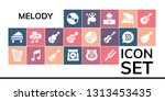 melody icon set. 19 filled... | Shutterstock .eps vector #1313453435