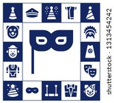 costume icon set. 17 filled... | Shutterstock .eps vector #1313454242