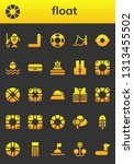 float icon set. 26 filled float ... | Shutterstock .eps vector #1313455502