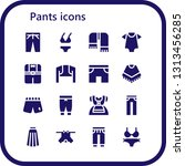 pants icon set. 16 filled pants ... | Shutterstock .eps vector #1313456285