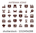 antenna icon set. 30 filled... | Shutterstock .eps vector #1313456288