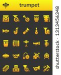 trumpet icon set. 26 filled... | Shutterstock .eps vector #1313456348