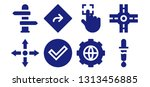 choose icon set. 8 filled... | Shutterstock .eps vector #1313456885