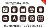 cartography icon set. 10 filled ...   Shutterstock .eps vector #1313457668