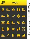 foot icon set. 26 filled foot... | Shutterstock .eps vector #1313458925