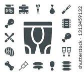leg icon set. 17 filled leg... | Shutterstock .eps vector #1313459132