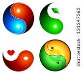 yin yang icons   Shutterstock .eps vector #131347262