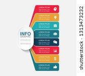 vector infographic template for ...   Shutterstock .eps vector #1313473232