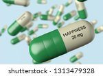 3d illustration antidepressant... | Shutterstock . vector #1313479328