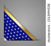 corner banner ribbon. blue with ... | Shutterstock .eps vector #1313494538