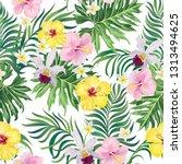 tropical vector seamless... | Shutterstock .eps vector #1313494625