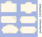 vector set of doodle frames | Shutterstock .eps vector #131349662