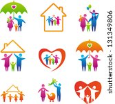 big set of family icons. happy... | Shutterstock .eps vector #131349806