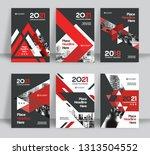 corporate book cover design...   Shutterstock .eps vector #1313504552