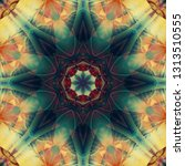 Abstract Colorful Fractal With...
