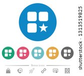 rank component flat white icons ... | Shutterstock .eps vector #1313519825