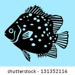 spotted scat fish | Shutterstock .eps vector #131352116