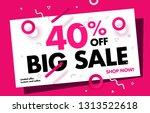 40  price discount sale... | Shutterstock .eps vector #1313522618