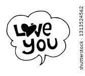 speech bubble in doodle style....   Shutterstock .eps vector #1313524562