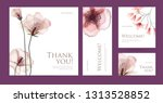 a set of postcard with the... | Shutterstock .eps vector #1313528852