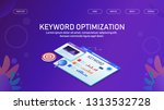 keyword optimization  seo... | Shutterstock .eps vector #1313532728