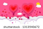 happy valentines day typography ... | Shutterstock . vector #1313540672