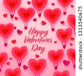 happy valentines day typography ... | Shutterstock . vector #1313540675
