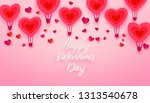 happy valentines day typography ... | Shutterstock . vector #1313540678
