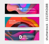 promotion banners  scroll ... | Shutterstock .eps vector #1313542688