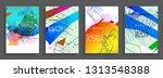 artistic covers design.... | Shutterstock .eps vector #1313548388