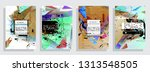 artistic covers design.... | Shutterstock .eps vector #1313548505