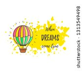 hot air balloon with paint... | Shutterstock .eps vector #1313549498