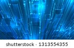 vector abstract 3d crystal. a... | Shutterstock .eps vector #1313554355