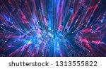 vector abstract 3d crystal. a... | Shutterstock .eps vector #1313555822