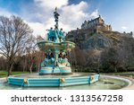 Ross Fountain With Edinburgh...