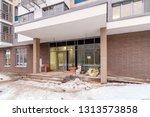 metal entrance doors with glass ... | Shutterstock . vector #1313573858