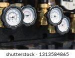 pressure gauge for measuring... | Shutterstock . vector #1313584865