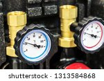 pressure gauge for measuring... | Shutterstock . vector #1313584868