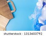 eco paper vs plastic bags for... | Shutterstock . vector #1313603792