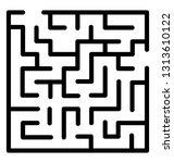 trap maze line icon design  | Shutterstock .eps vector #1313610122