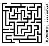trap maze line icon design  | Shutterstock .eps vector #1313610215