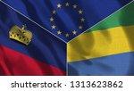 lichtenstein and gabon 3d...   Shutterstock . vector #1313623862
