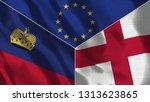 lichtenstein and england 3d...   Shutterstock . vector #1313623865