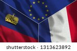 lichtenstein and france 3d...   Shutterstock . vector #1313623892