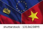 lichtenstein and vietnam 3d...   Shutterstock . vector #1313623895