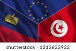 lichtenstein and tunisia 3d...   Shutterstock . vector #1313623922