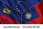 lichtenstein and taiwan 3d...   Shutterstock . vector #1313623928