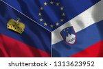 lichtenstein and slovenia 3d...   Shutterstock . vector #1313623952