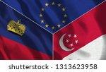 lichtenstein and singapore 3d...   Shutterstock . vector #1313623958