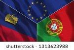 lichtenstein and portugal 3d...   Shutterstock . vector #1313623988